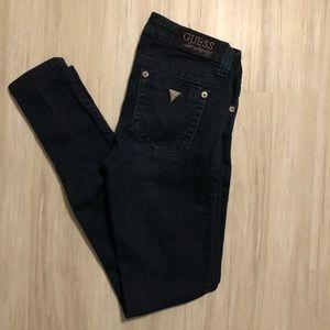 {guess} skinny jeans dark wash